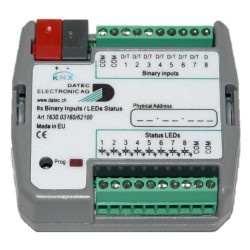 DATEC - Flush mounted binary Input 8 fold